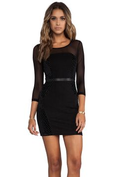Date night dress MINKPINK Roller Disco Velvet Mini Dress in Black from REVOLVEclothing $79.00