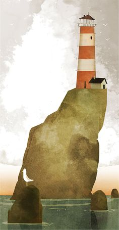ALWAYS FOLLOW YOUR PRINCIPES. IT'S LIGHTHOUSE OF YOUR LIFE.   Lighthouse on the Edge of the World by Florian Pigé