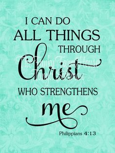 SVG, DXF & PNG - I can do all things through Christ who strengthens me by MyFunkyFarmHouse on Etsy Bible Verses Quotes, Faith Quotes, Scriptures, Gospel Quotes, Deep Quotes, Scripture Verses, Empathy Quotes, Vinyl Wall Quotes, Love Is Patient