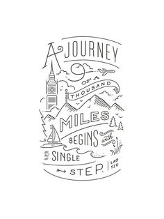 """Journey of a thousand miles"" - Graphic Art Print by Jennifer Wick. - - ""Journey of a thousand miles"" – Graphic Art Print by Jennifer Wick. Quotes Journey of a thousand miles Art Print by Jennifer Wick Quote Art, Art Quotes, Motivational Quotes, Life Quotes, Inspirational Quotes, Drawn Quotes, Tattoo Quotes, Drawings Of Quotes, Lao Tzu Quotes"