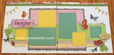 Two Page Scrapbook Layout Brushed Spring Girl Floral #ctmh #scraptabulousdesigns #cricutexplore