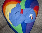 My Little Pony Friendship is Magic Handmade Applejack Heart Pillow. $65.00, via Etsy.