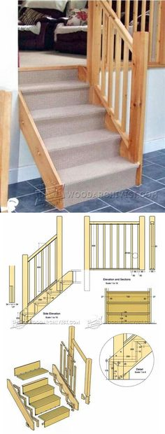 Building Stairs - Woodworking Plans and Projects | WoodArchivist.com