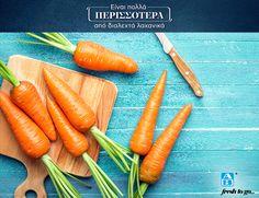 Καροτοχυμός ή καροτοσαλάτα; Ό,τι κι αν επιλέξετε, στα ΑΒ θα βρείτε φρέσκα ελληνικά καρότα AB Fresh to go . Fresh To Go, Carrots, Vegetables, Food, Veggie Food, Vegetable Recipes, Meals, Veggies, Carrot