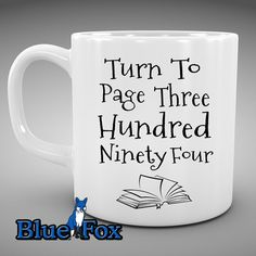 Geekery mug, Coffee mug, Harry Potter Mug,Funny Coffee mug, Snape,Turn to page 394,HP Fan, Tea mug,By Blue Fox Gifts_288