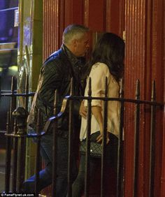 Cute: Matt Le Blanc, 49, held a protective arm around his rumoured BBC producer girlfriend Aurora Mulligan, 32, as the Top Gear crew enjoyed a series wrap party night in Soho, London on Friday