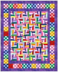 Block of the Month April 2006  from ucquilts.com   shown with lots of variations - this one is my fav