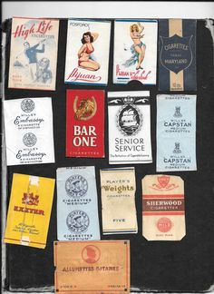Collection of cigarette packet fronts | eBay