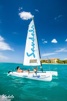 Sail the calmest oceans, protected by coral reefs at Sandals Whitehouse - all included, all unlimited, all the time.