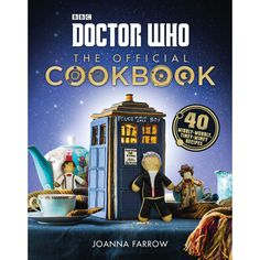 Doctor Who: The Official Cookbook - The perfect addition to every Doctor Who fan's shelf, The Official Doctor Who Cookbook features a cornucopia of delicious, easy-to- make recipes—from the simple, to the showstoppers—with an exciting Whovian twist. Enjoy the Doctor's own favorite, fish fingers and custard, share some Cyberman Pie with friends, treat the family to Cassandra Pizza, or indulge your sweet tooth with a Supreme Dalek Cake.