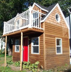 SALE 2-Story Cape Cod Custom Built Playhouse Childrens Outdoor Backyard #CustomBuilt This playhouse is for sale and would be happy in place where is is used and loved. Please take a look and spread the word! Englewood, CO