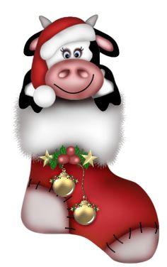 View album on Yandex. Christmas Vases, Christmas Yard Art, Christmas Rock, Charlie Brown Christmas, Christmas Clipart, Christmas Animals, Christmas Stockings, Clipart Noel, Cow Clipart