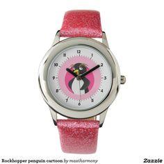 Rockhopper penguin cartoon wristwatch
