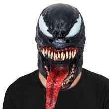 Spider-Man The Venom Mask Black&Red Cosplay SpiderMan Edward Brock Dark Superhero Venom Latex Masks Helmet Halloween Party Props The Venom, Adult Costumes, Halloween Party, Latex, Spiderman, Helmet, Halloween Face Makeup, Cosplay, Superhero