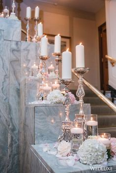 What better way to walk down the aisle than by candlelight   Photography By: Blush Wedding Photography   WedLuxe Magazine   #WedLuxe #Wedding #luxury #weddinginspiration #luxurywedding #ceremonydecor #weddingdecor