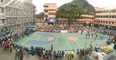 A Community At Play...Basketball Last evening two local Matunga schools Don Bosco High School and Shishuvan School played a basketball match at Don Bosco. Parents and enthusiasts supporting both schools were present cheering loudly. This is the kind of interaction that goes a long way in building local communities.  2017 04 19 - 6:56 PM  #mumbaipics #mumbaipicoftheday