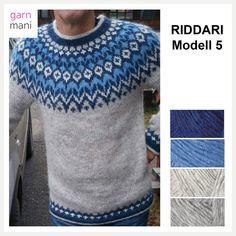no - Spesialist på islandsk ull Free Knitting, Knitting Patterns, Icelandic Sweaters, Blue Sweaters, Christmas Sweaters, Free Pattern, Knit Crochet, Crochet Necklace, Men Sweater