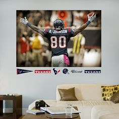 Andre Johnson Celebration - In Your Face Mural, Houston Texans
