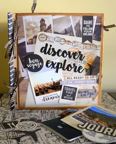 How to Create a Travel/Journal Album With Envelopes Created by Adriana Bolzon