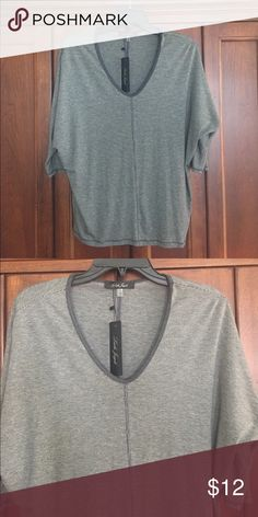 Top Easy to wear, comfy grey striped top. Tops