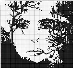 Resultado de imagem para graficos de quadros em ponto cruz monocromaticos