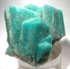 """#Amazonite: Used as a gem essence for """"emotional congestion; difficulty processing and releasing emotions from the distant past; defeatist attitude; feeling burdened by life.""""--alaskanessences.com"""