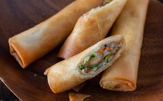 Vegetable Spring Rolls (Egg Rolls)  I can't wait to try these.