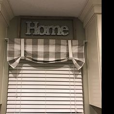 Plaid Valance - Buffalo Plaid - Kitchen Curtains - Kitchen Valance - Home Decor - Farmhouse - Roman Valance - Bathroom Valance Fixed Tie Up - - Farmhouse Decor, Custom Drapes, Decor, Country Farmhouse Decor, Primitive Bathrooms, Bathroom Valance, Colorful Curtains, Valance, Kitchen Curtains