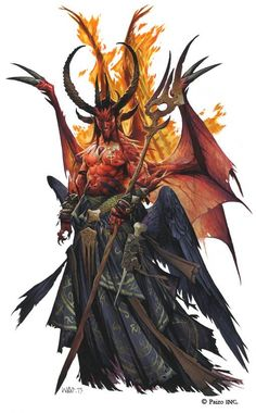 Mephistopheles from the cover of Pathfinder Adventure Path #102 - Breaking the Bones of Hell by Wayne Reynolds