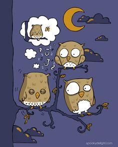 Dreamy owl.