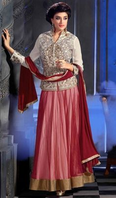 Winter Fall Anarkali Formal Wear Long Shirts 2016 For Young Ladies
