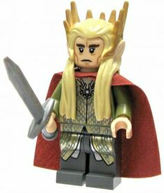 LEGO The Hobbit Minifigure ~ Thranduil - One of my most favoritest Christmas presents.  :)
