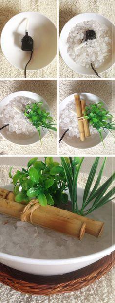como fazer fonte de água feng shui