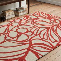 Sketch Wool Rug - Paprika
