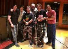 """""""Our last day recording the basic tracks for the new CD at East/West we made it a pajama party. With lots of coffee! Rick Springfield, Song Words, Matthew Gray Gubler, Pajama Party, Criminal Minds, Harem Pants, Songs, How To Wear, Comfy"""