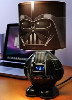 Darth Vader alarm clock lamp-maybe the hubby would wake up to this one?!