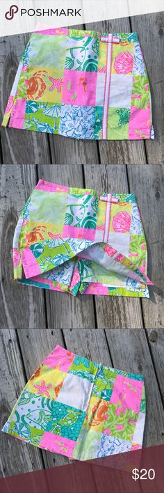 Lilly skort, size 8, NWOT Right and cheery pattern! Lilly Pulitzer Bottoms Skorts
