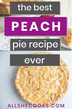 Peach pie is a must make pie recipe when you have fresh peaches on hand. A hint of warm spices, tender peaches, and a crust that melts in your mouth. This peach pie recipe is incredibly easy to make!