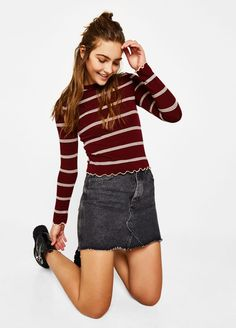 11 Sweet Style Striped Sweater Sweet Style Striped Sweater Smart, comfortable, and chic sweaters are a must have in the closet. The best thing about a sweater is that it flatters al. Basic Style, My Style, White Belt, Hourglass Figure, Pullover, Sweet Style, Blue Sweaters, Denim Skirt, Knitwear