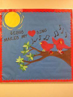 church bulletin board ideas | Bulletin board ideas- post your favorite song lyrics | Church Class