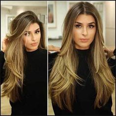 Long straight hairstyles are gorgeous when slim and healthy. Long straight hair can be styled with various hairstyles and ideas. Long straight hairstyles have been in fashion for centuries and can … Long Layered Haircuts, Layered Hairstyles, Long Hairstyles With Layers, Straight Hairstyles For Long Hair, Long Hair Haircuts, 2018 Haircuts, Sleek Hairstyles, Natural Hairstyles, Bald Hair