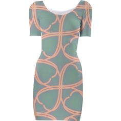Blue and Green Pastel Bodycon Dress