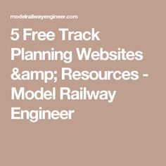 5 Free Track Planning Websites & Resources - Model Railway Engineer