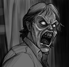 Evil Ed rough sketch (Evil Dead by on DeviantArt Bruce Campbell, Dark Thoughts, King Baby, Many Faces, Twisted Humor, Halloween Art, Meeting New People, Men's Collection, Hanging Out