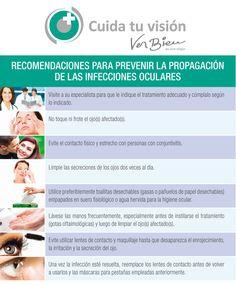 Recomendaciones para prevenir la propagación de las infecciones oculares