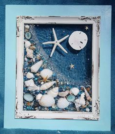 DIY ideas Glasstrand gerahmte Kunst The plant you want. Sea Glass Crafts, Sea Crafts, Sea Glass Art, Resin Crafts, Resin Art, Glass Beach, Seashell Art, Seashell Crafts, Deco Marine
