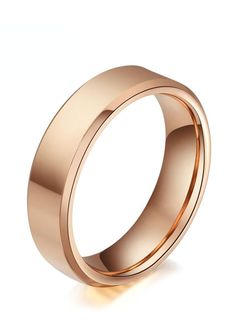 If you're a rose gold fan you'd love this rose tungsten carbide wedding band. This simple yet elegent rose gold plated ring has a highly polished finish and is made in the classic flat beveled-edge design. Widths are available in 4mm, 6mm & more, making it perfect for couples who want a matching set. Rose gold tungsten wedding bands are truly unique for those who want to stand out from the crowd!