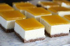 cheesecake mangue Dessert Original, Cheesecakes, Buffet, Fruit, Eat, Cooking, Desserts, Attention, Tahiti