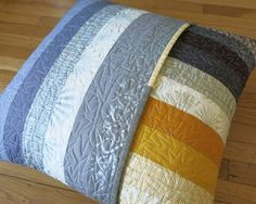 Shimmer Pillow Back--love the quilting on this.  The back is almost equal to the front!