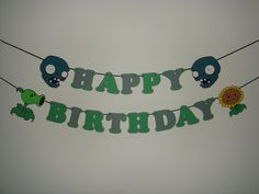 zombies happy birthday party wall decoration banner garland cut out